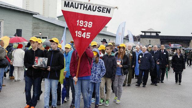 """""""Wert des Lebens"""": Befreiungsfeier in Mauthausen (Bild: APA/RUBRA)"""