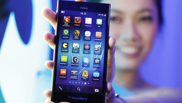 Blackberry erstaunt Beobachter mit gutem Ergebnis (Bild: AP)