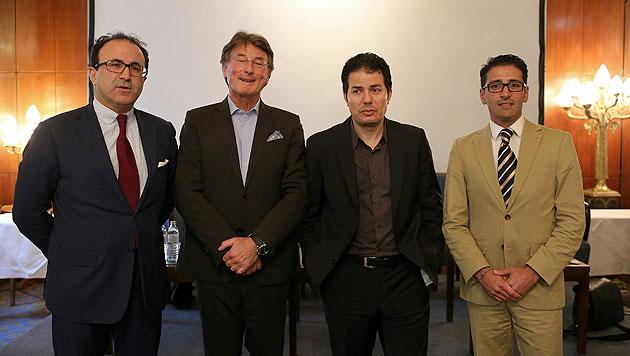 Birol Kilic, Franz Obermayr, Hamed Abdel Samad und Bundesrat Efgani Dönmez (Bild: Gerhard Bartel)