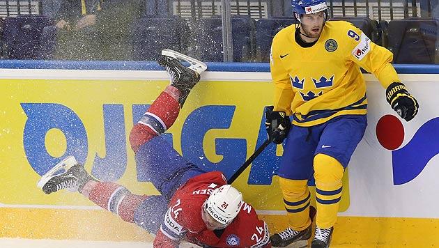 Schweden war gegen Norwegen bei der A-WM in Minsk obenauf. (Bild: APA/EPA/TATYANA ZENKOVICH)