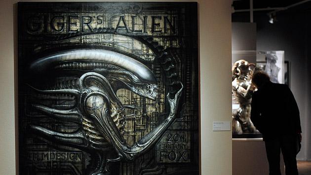 HR Giger's 'Alien' bei einer Ausstellung 2011 im Kunst Haus Wien. (Bild: APA/ROBERT JAEGER)