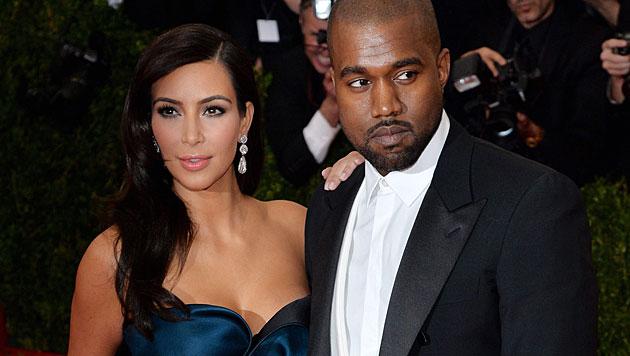 Kim verdient mit Hochzeit 21 Millionen Dollar (Bild: APA/EPA/JUSTIN LANE)