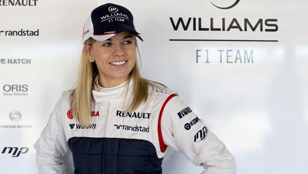 Sensationell: Susie Wolff schneller als Vettel (Bild: AP)