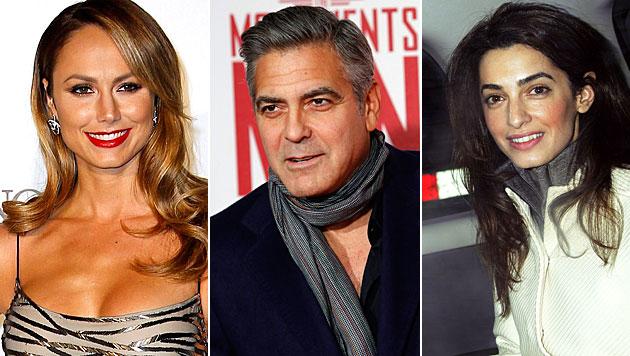 Clooney soll Keibler mit Alamuddin betrogen haben (Bild: EPA, APA/EPA/TAL COHEN, AP)
