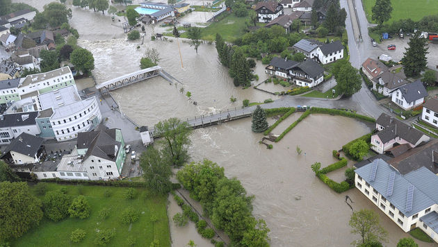 """Hochwasser: """"Das Schlimmste haben wir überstanden"""" (Bild: APA/PAUL PLUTSCH)"""
