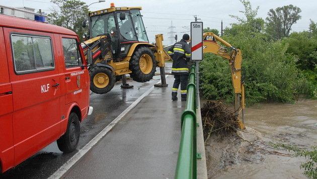 Katastrophenalarm wegen Starkregens im Landesosten (Bild: Pressestelle BFK Mödling)