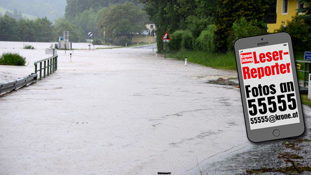 """Hochwasser: """"Das Schlimmste haben wir überstanden"""" (Bild: APA/EINSATZDOKU.AT/PATRIK LECHNE)"""