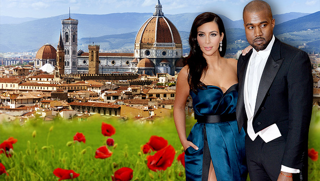 Die Edelhochzeit steigt in Italien, im wunderschönen Florenz. (Bild: thinkstockphotos.de, APA/EPA/JUSTIN LANE, krone.at-Grafik)