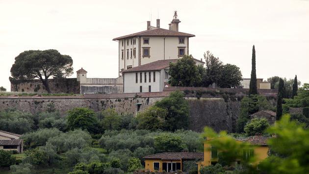 Kim Kardashian und Kanye West heirateten im historischen Fort Belvedere. (Bild: AP)