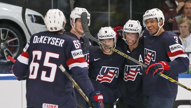 USA und Tschechien stehen im Viertelfinale (Bild: AP)