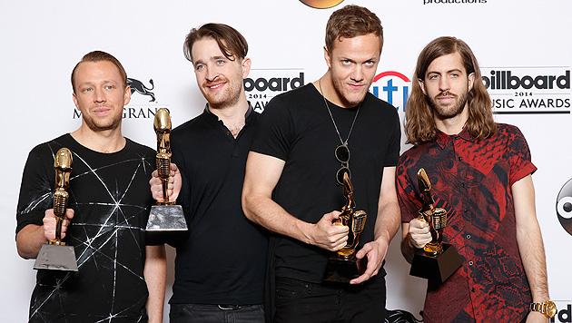 Die Imagine Dragons erhielten den Preis für das beste Rock-Album. (Bild: Eric Jamison/Invision/AP)