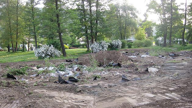 Nachher: Dieser kleine Teich wurde Anfang Mai beseitigt. (Bild: Familie Hollauf)