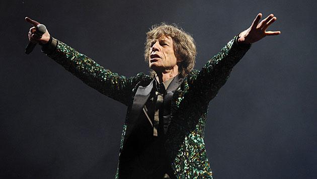 Mick Jagger auf der Bühne (Bild: EPA)
