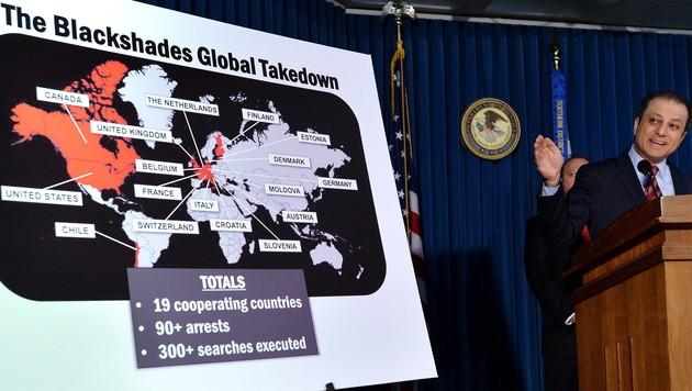 97 Festnahmen bei Razzia gegen Schadsoftware (Bild: EPA)