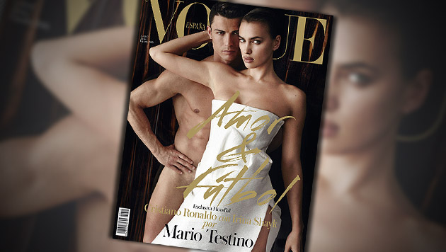 """Cristiano Ronaldo nackt auf der spanischen """"Vogue"""" (Bild: Vogue/Mario Testino, krone.at-Grafik)"""