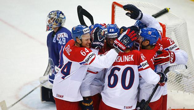 Eishockey-WM: Tschechen wenden Duell mit Russen ab (Bild: AP)