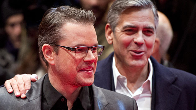 Matt Damon wird als Trauzeuge von George Clooney gehandelt. (Bild: APA/EPA/DANIEL NAUPOLD)