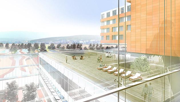 Krankenhaus Wien-Nord um 95 Millionen Euro teurer (Bild: APA/Architekturbüro Wimmer)