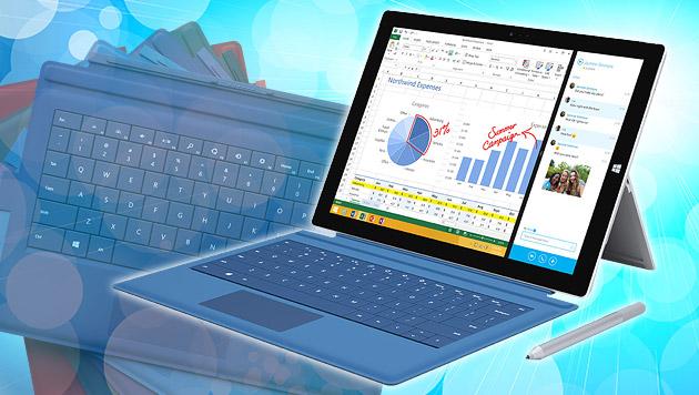 "Microsoft enthüllt Surface Pro 3 mit 12""-Display (Bild: Microsoft, thinkstockphotos.de, krone.at-Grafik)"
