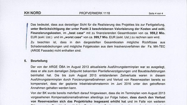 """KH Wien-Nord könnte eine Milliarde Euro kosten (Bild: """"Krone"""")"""