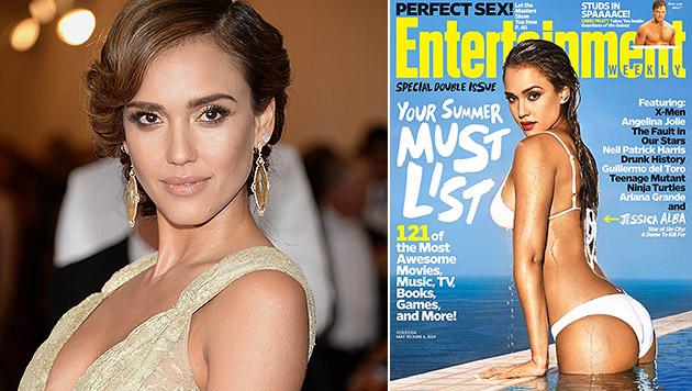 """""""Geist"""" auf Jessica-Alba-Selfie gruselt ihre Fans (Bild: Entertainment Weekly, Evan Agostini/Invision/AP)"""