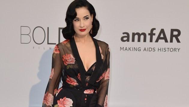 Auch Dita von Teese durfte bei der amfAR-Gala in Cannes nicht fehlen. (Bild: AFP)