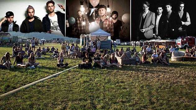 Festival Rock im Dorf setzt auf Gemütlichkeit (Bild: Sony Music, Julie Brass, Wolfang Lienbacher, Benedikt Reiter)