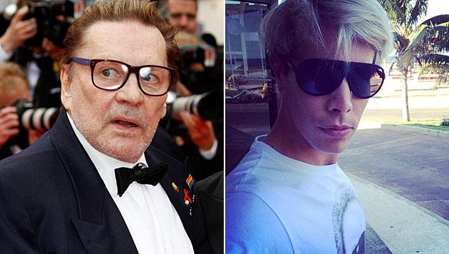 """Helmut Berger frisch verliebt in """"Botox-Boy"""" (Bild: APA/EPA/SEBASTIEN NOGIER, facebook.de/florianwess)"""