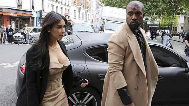 Kim und Kanye flogen mit Privatjet zur Hochzeit (Bild: AP)