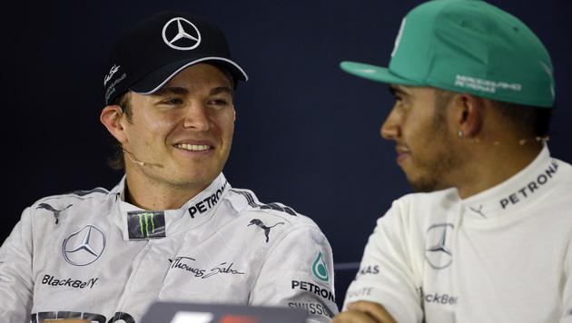 Rosberg von Hamiltons Siegesserie unbeeindruckt (Bild: AP)