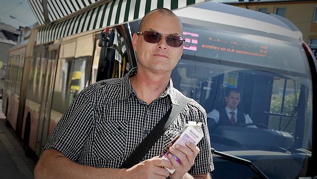 Schwarzfahrer in Salzburg rief Polizei zu Hilfe (Bild: Wolfgang Weber)