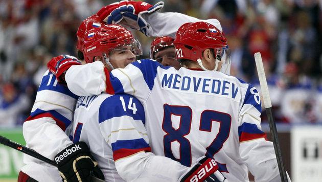 Die Russen zogen mit einem 3:0-Erfolg über Favoritenschreck Frankreich locker ins WM-Halbfinale ein. (Bild: AP)