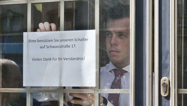 Banküberfall in Salzburg: Täter flüchten mit Beute (Bild: MARKUS TSCHEPP)