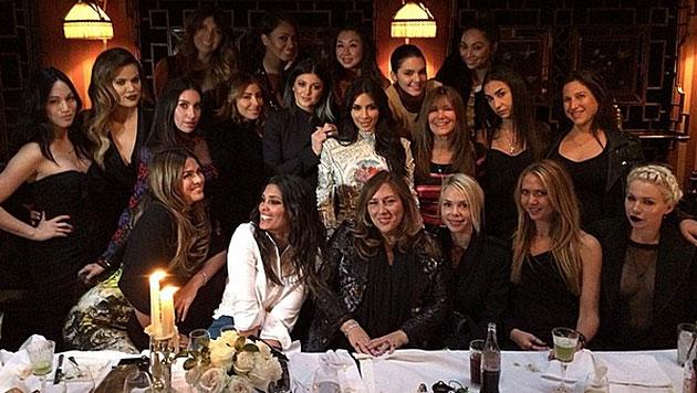 """""""Das letzte Abendmahl"""", meinte Kim. (Bild: instagram.com/kimkardashian)"""