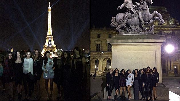 Junggesellinnenabschied in Paris (Bild: instagram.com/kimkardashian)
