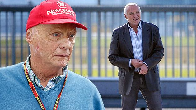 "Lauda: ""Für Mateschitz wäre F1-Boss ein Abstieg"" (Bild: APA/EPA/VALDRIN XHEMAJ, APA/BARBARA GINDL, krone.at-Grafik)"