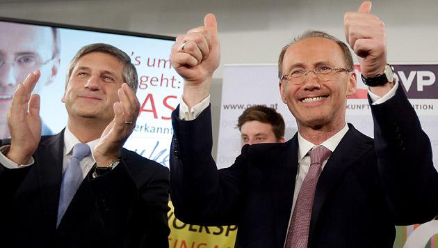 ÖVP bleibt klar vor SPÖ, FPÖ starke Dritte (Bild: APA/GEORG HOCHMUTH)