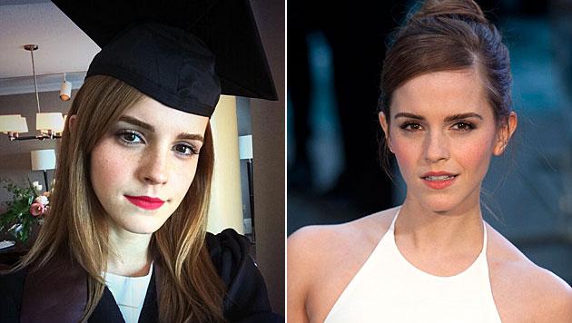 Emma Watson hat ihren Uni-Abschluss in der Tasche (Bild: twitter.com/EmWatson, APA/EPA/WILL OLIVER)