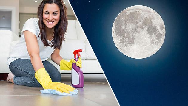 Mond hilft mit: So wird die Hausarbeit leichter (Bild: thinkstockphotos.de)