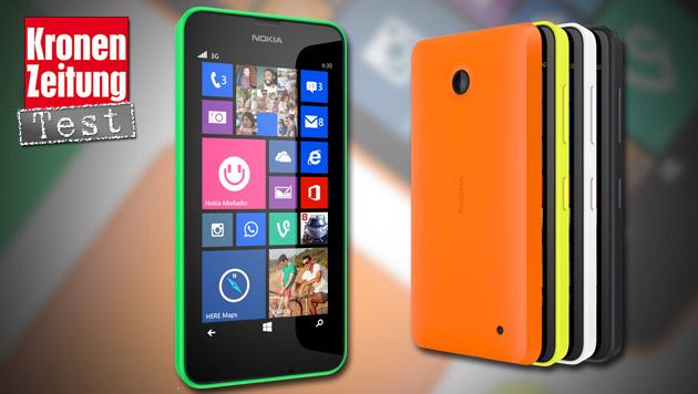 Nokias Einsteiger-Smartphone Lumia 630 im Test (Bild: Nokia, krone.at-Grafik)