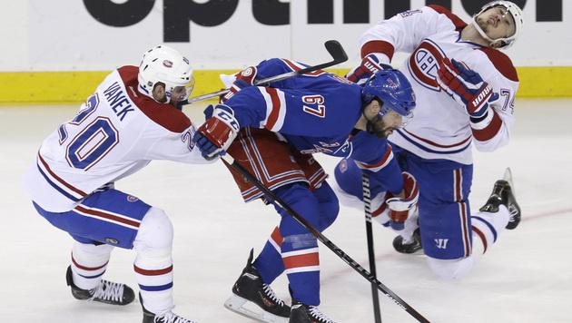 Vanek kassiert mit Montreal Niederlage in New York (Bild: AP)