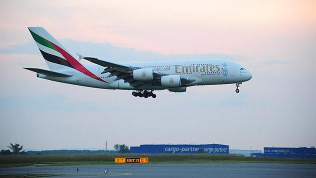 Weltgrößtes Passagierflugzeug in Wien gelandet (Bild: Patrick Huber)