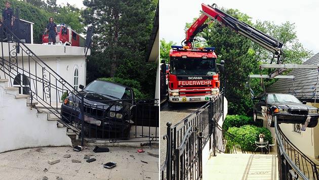 Auto geriet ins Rollen und stürzte 3 Meter tief ab (Bild: MA 68 Lichtbildstelle)