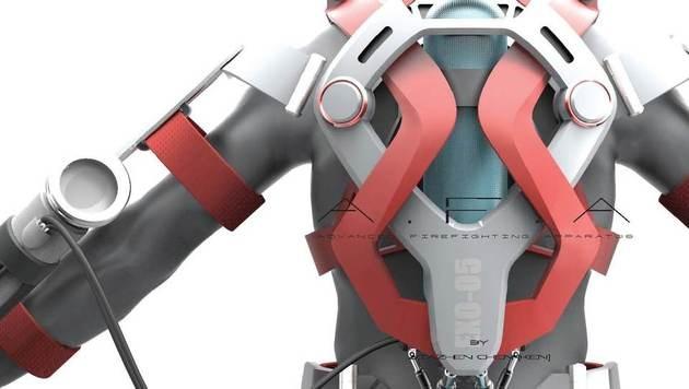 Exoskelett verleiht Feuerwehrmännern Superkräfte (Bild: Ken Chen)