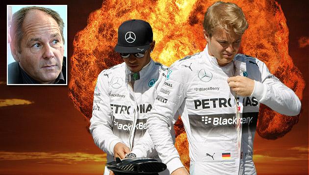 "Hamilton vs Rosberg: Berger prophezeit ""Explosion"" (Bild: APA/BARBARA GINDL, AP, thinkstockphotos.de, krone.at-Grafik)"
