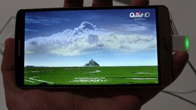 Laser-Smartphone im Pixelrausch: LG entüllt das G3 (Bild: Dominik Erlinger)