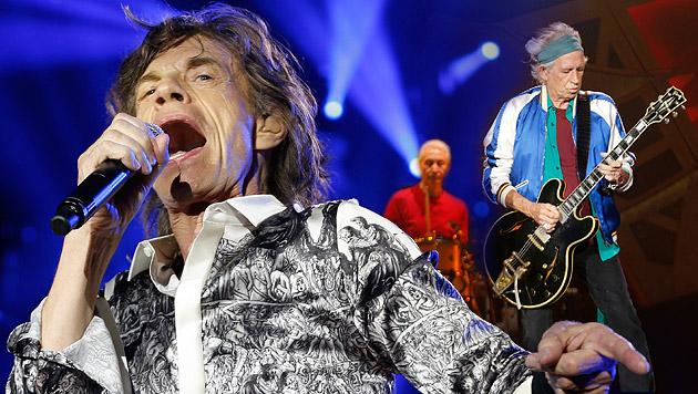 Rolling Stones: Rock 'n' Roll in Stein gemeißelt (Bild: APA/EPA/TERJE BENDIKSBY, krone.at-Grafik)