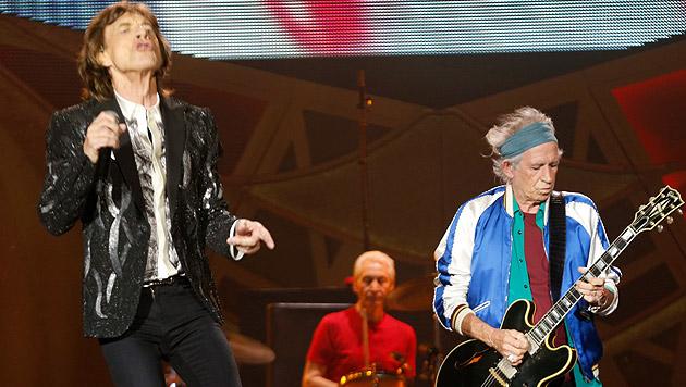 Rolling Stones: Rock 'n' Roll in Stein gemeißelt (Bild: APA/EPA/TERJE BENDIKSBY)