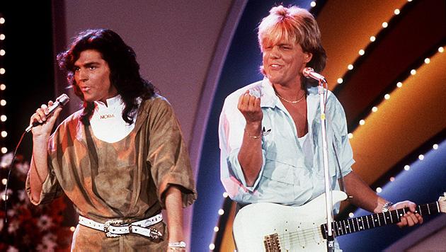 Das waren noch Zeiten: Thomas Anders und Dieter Bohlen als Kult-Duo Modern Talking im Jahr 1985. (Bild: Von Maydell/EPA/picturedesk.com)
