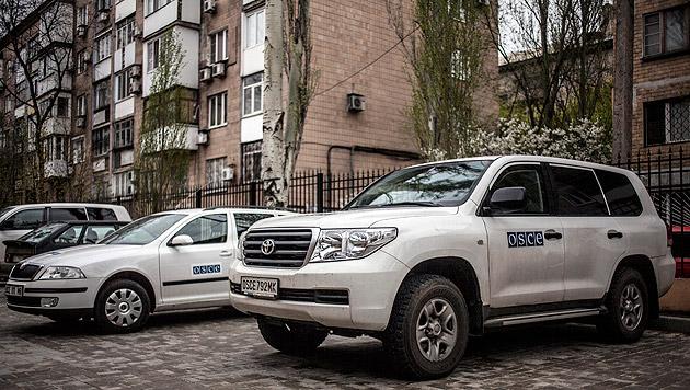 Ukraine: Österreichischer OSZE-Beobachter wohlauf (Bild: APA/EPA/Maysun)